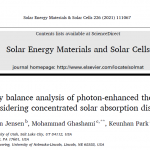 Our publication in Solar Energy Materials and Solar Cells